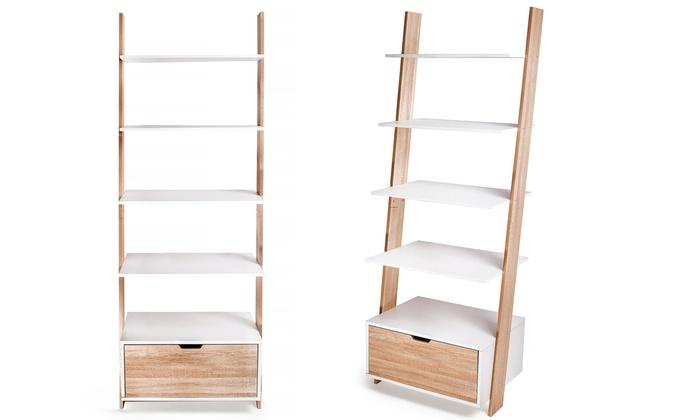 biblioth que chelle avec tiroir groupon. Black Bedroom Furniture Sets. Home Design Ideas