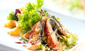 Wok In: Teppanyaki-Grill-Buffet mit Sushi und Fisch oder Fleisch inkl. Live-Cooking für 2 oder 4 Pers. im Wok In (28% sparen*)