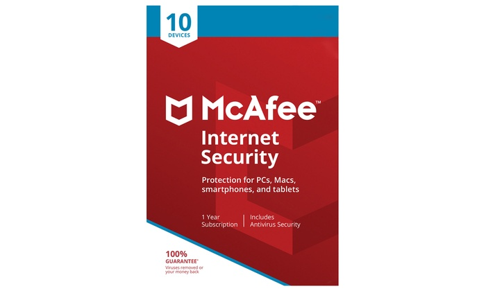 McAfee Internet Security 2019 for Ten Devices One-Year License Downloadable  Software