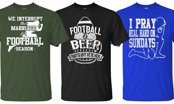 Men's Football Humor T-Shirts