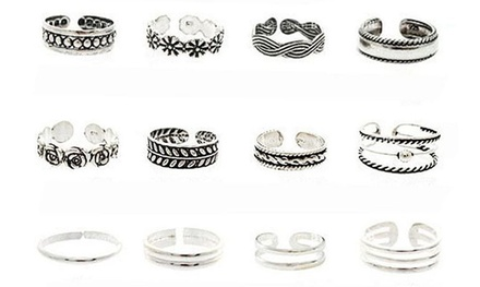 12-Piece Toe Rings Set
