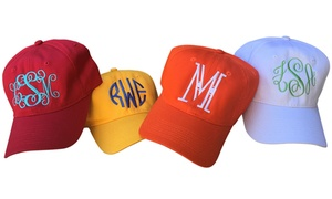 Social Monograms: Custom Monogrammed Baseball Cap from Social Monograms (Up to 50% Off)