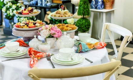 High Tea with Mocktail and Hot Drink Each for 2 ($39), 4 ($75) or 6 People ($109) at Pressed Tin Cafe (Up to $210 Value)