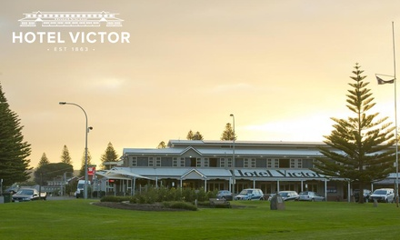 Victor Harbour: 1-3 Nights for Two with Brekky, Parking, Wi-Fi, Late Check-Out and Drink Vouchers at Hotel Victor