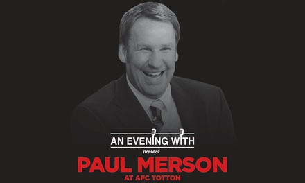 An Evening with Paul Merson, Entry and Pie Tickets, 22 February, The Total Branding Community Stadium (Up to 38% Off)