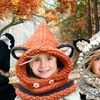 Animal Knitted Hat and Scarf