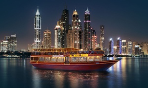Al Wasl Dhow: Dubai Marina Four-Star Dhow Cruise Dinner for Child or One or Two Adults with Al Wasl Dhow (Up to 47% Off)