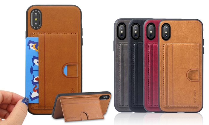 finest selection eae64 50792 Up To 74% Off on Rock Kickstand Wallet Case | Groupon Goods