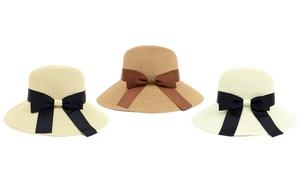 Women's Floppy Sun Hat with Ribbon Bowknot