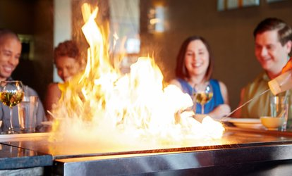 image for Hibachi Dinner for Two or Four at A-Aki (Up to 38% Off)