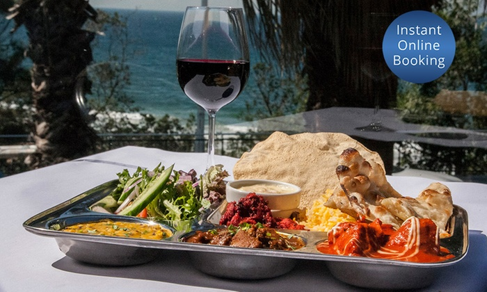 Mango Tree Cafe & Restaurant - North Wollongong: Three-Course Indian Dinner with Drinks for Two ($65) or Six ($185) at Mango Tree Cafe & Restaurant (Up to $332.76 Value)