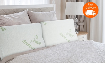 Memory Foam Pillow with Bamboo Cover: One $22, Two $39 or Four $69