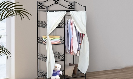 tier clothes metal storage rack