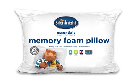 Two or FourPack of Essential Memory Foam Pillows from £11.98