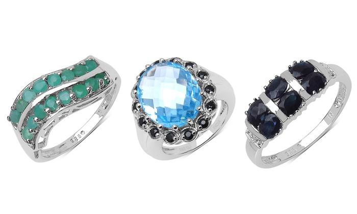 genuine gemstone rings groupon goods
