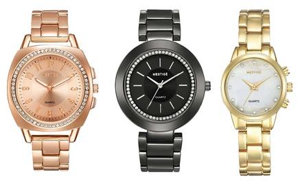 Mestigé Armbanduhr mit Kristallen von Swarovski® im Modell und in der Farbe nach Wahl inkl. Versand