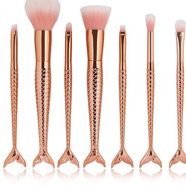 70b51316ff8 Up To 80% Off on Mermaid Makeup Brush Set | Groupon Goods