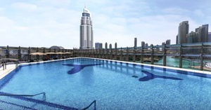 The Burj Club at Burj Khalifa: Weekday or Weekend Burj Club Pool Access for One at Rooftop, The Burj Club located at Burj Khalifa (Up to 34% Off)