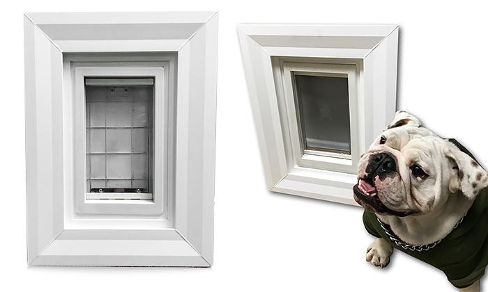 ... Doggy Door Wall Insert With Vinyl Frame