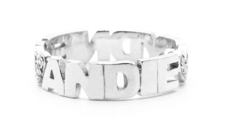 $59 for a Personalized Swarovski-Heart Ring with Two Hand Cut Names from Luce Mia ($130 Value)