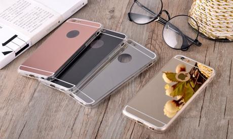 Carcasa bumper con efecto espejo para varios modelos de smartphones