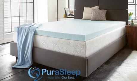PuraSleep Perfect Temp Gel Cooled Memory Foam Mattress Topper bb1a694e-25fa-11e7-bbdd-002590604002