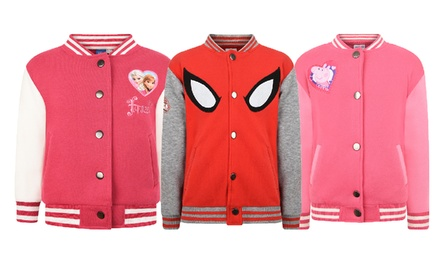 Kids' CharacterThemed Baseball Jackets for £9.99