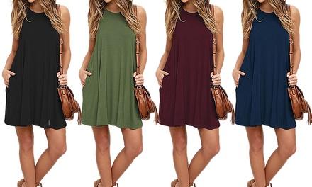 Comfortabele mouwloze jurken