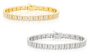 Three Row Diamond Accent Tennis Bracelet at NES Group, plus 6.0% Cash Back from Ebates.