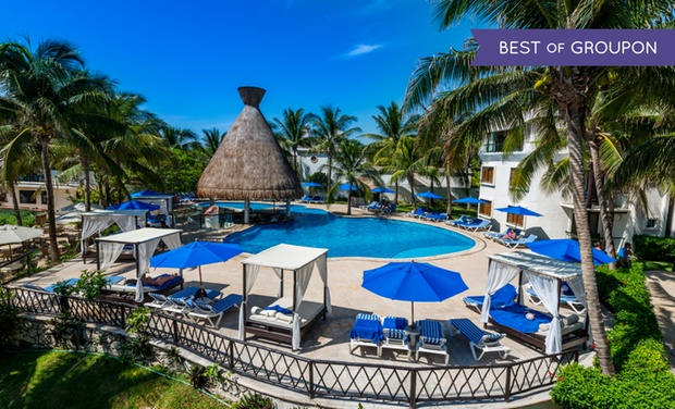 TripAlertz wants you to check out ✈ 4, 6, or 7 Night All-Inclusive The Reef Playacar Boutique Resort Trip w/Air. Price/Person Based on Double Occupancy. ✈ All-Inclusive Reef Playacar Boutique Resort from Vacation Express  - All-Inclusive Mexico Vacation