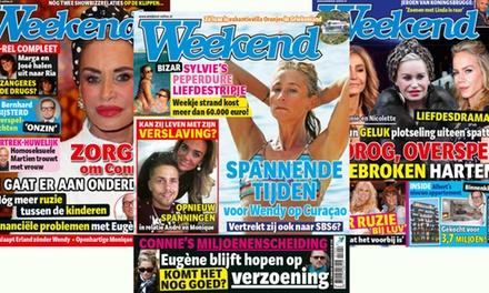 12 of 25 keer Weekend magazine thuisbezorgd, je abonnement stopt automatisch