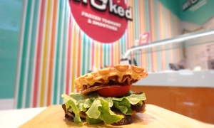 Wicked Frozen Yoghurt (Hornsby Westfield): BLT Waffle, Frozen Yoghurt and Water for One ($9) or Two People ($17) at Wicked Frozen Yoghurt (Up to $28.9 Value)