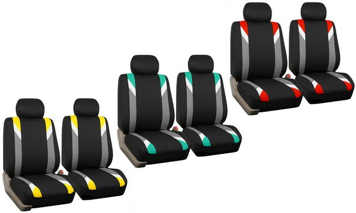 Modernistic Front Bucket Universal Fit Seat Cover 2 Pack