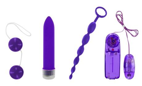 Violet Bliss Couples' Vibrator Kit (4-Piece) 4021bd9e-223b-11e8-9fd1-5254801ee647