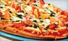 All American Pizza - Southwest Oklahoma City: $8 for $16 Worth of Pizza and Calzones at All American Pizza