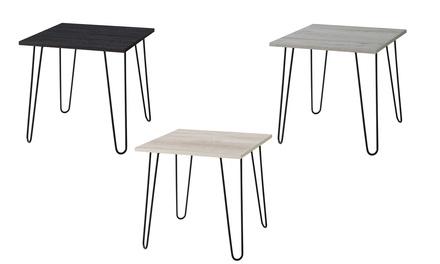 Mobilia Mid-Century Modern Retro Hairpin Leg Large End Table
