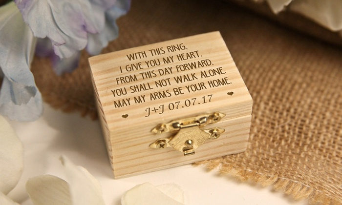 Personalised Wooden Jewellery Box Groupon Goods