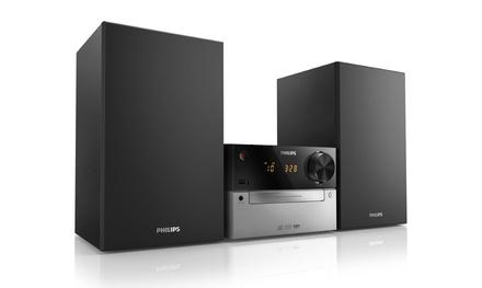 Microcadena Philips con CD/MP3, USB y sistema de altavoces Bass Reflex