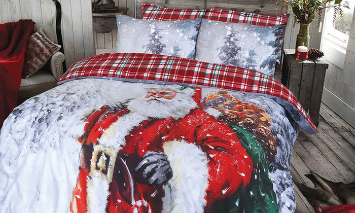 Pieridae Santa Reversible Duvet Set In Choice of Design from £10
