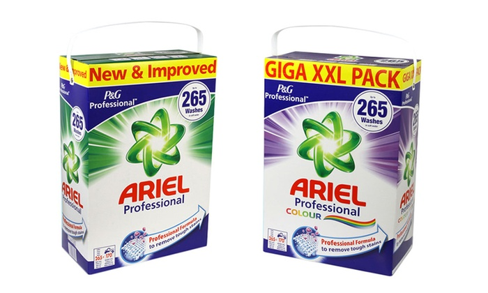 lessive en poudre ariel professional groupon. Black Bedroom Furniture Sets. Home Design Ideas
