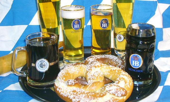 Helga's German Restaurant and Deli - City Center: $15 for a German Beer Sampler with Pretzels for Two at Helga's German Restaurant and Deli ($25 Value)