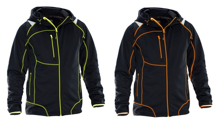 Herren Outdoor-Jacke mit Reflexstreifen in Schwarz-Gelb oder Schwarz-Orange (Frankfurt)