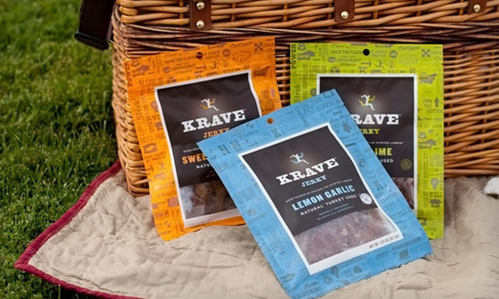 Krave Premium Gourmet Jerky Seven-Pack: $26.99 for a Krave Premium Gourmet Jerky Seven-Pack Bundle ($49 List Price). Free Shipping.