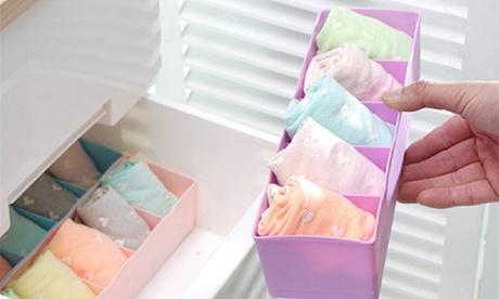 Pack de hasta 6 organizadores de plástico con separadores