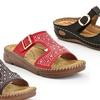 Lady Godiva Women's Low Wedge Sandals