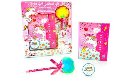 Unicorn Secret Lock Journal Set