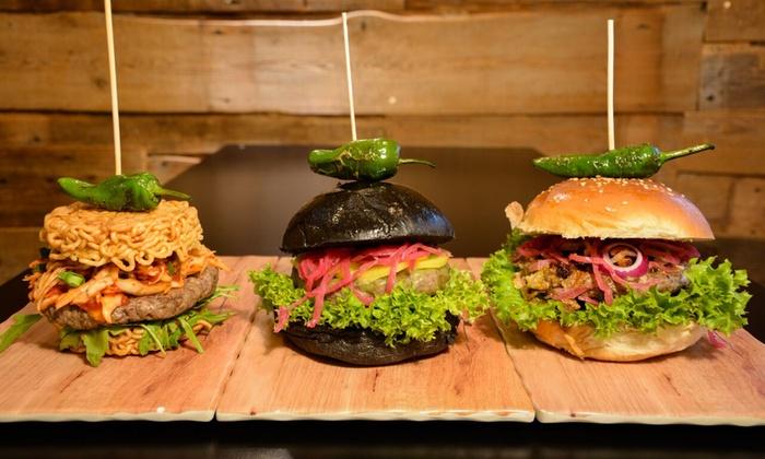 korean burger inkl pommes chilees groupon. Black Bedroom Furniture Sets. Home Design Ideas