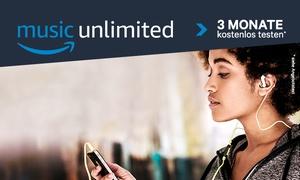 Amazon Music Unlimited: Amazon Music Unlimited 3 Monate kostenlos testen – mehr als 40 Millionen Songs sowie Hörspiele & Fußball-Bundesliga live