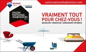 Salon National de l'Habitation: Accès d'une journée pour deux adultes ou une famille au Salon National de l'Habitation de Montréal 2018