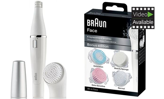 Braun Face 810 2in1 Gesichtsepilierer und -reinigungsbürste mit Mikro-Oszillationen